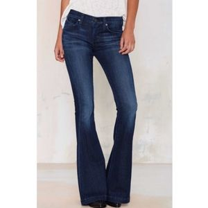 A Gold E Madison 70's Flare Jeans Voyager 27T NWT